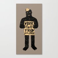 Work For (B) Canvas Print