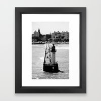 Calais Lighthouse Framed Art Print
