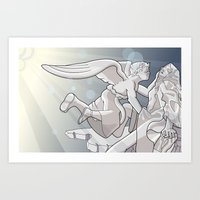 extasy of saint terasa Art Print