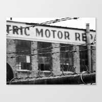 Abandoned Building in Detroit Canvas Print
