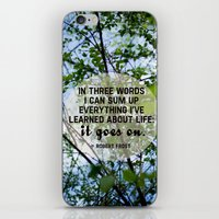 Life Goes On. iPhone & iPod Skin