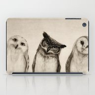 iPad Case featuring The Owl's 3 by Isaiah K. Stephens