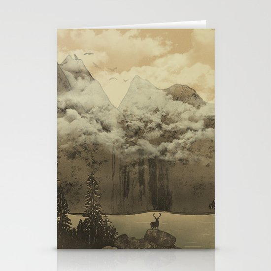 The Mountain Lake Stationery Card