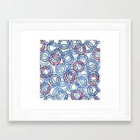 Blue Discs Framed Art Print