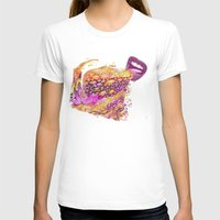 Gummy Saucers -- Jelly Candy Flying Discs in Citrus and Berry Flavors Womens Fitted Tee White SMALL