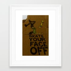 Skate Your Face Off. Framed Art Print