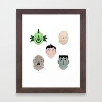 The Happy Monster Squad Framed Art Print