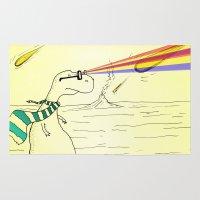 Hipster Laser Dinosaur Rug