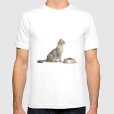 Dinner Mens Fitted Tee White SMALL