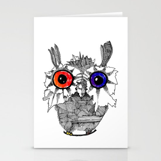Small Owl Stationery Card