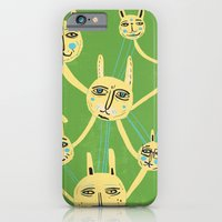 iPhone & iPod Case featuring Connected Rabbits by Lupo Manaro