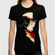 Jekyll And Hyde Silhouet… Womens Fitted Tee Black SMALL