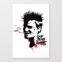 Stop Being Perfect Canvas Print