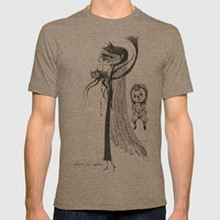 Welcome Home Annabelle Mens Fitted Tee Tri-Coffee SMALL