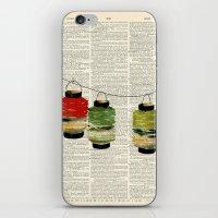 Vintage Lanterns Trio iPhone & iPod Skin