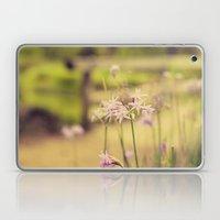 Tiny purple flowers Laptop & iPad Skin