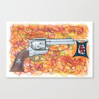 Quick draw Canvas Print