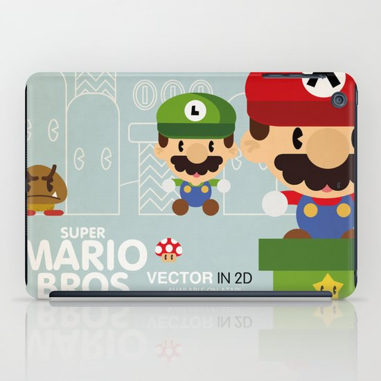 mario bros 2 fan art iPad Case