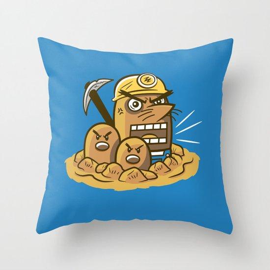Mr. Resettrio Throw Pillow