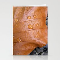 Autumn Leaf Macro II Stationery Cards