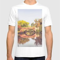 New York City Autumn Bri… Mens Fitted Tee White SMALL