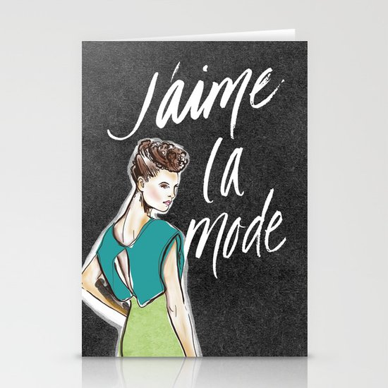 I Love Fashion Stationery Card