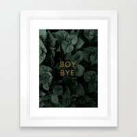 Boy, Bye - Vertical Framed Art Print
