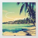 Summer Love Vintage Beach Canvas Print