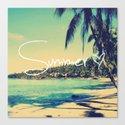 Summer Love Vintage Beach Canvas Print