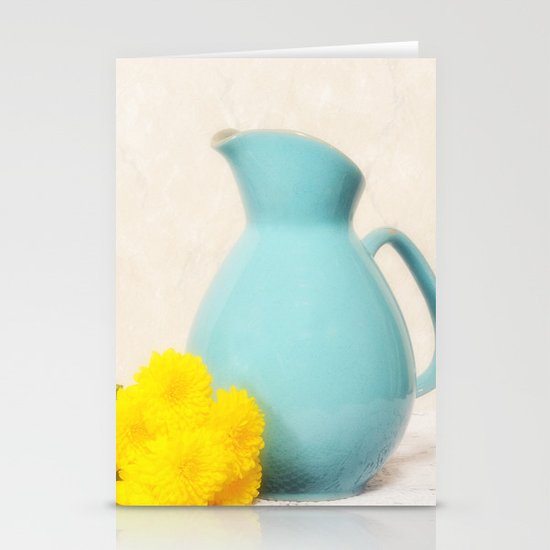The Yellow Mums Stationery Card