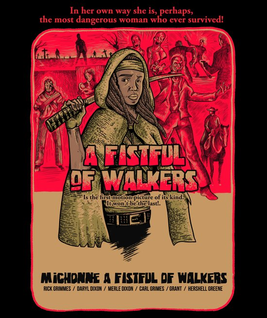 A fistfull of walkers Art Print