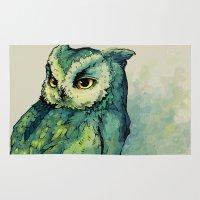 Green Owl Rug