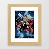 Almighty Thor  Framed Art Print