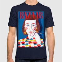 Diana Vreeland Mens Fitted Tee Navy SMALL