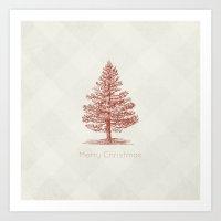Simple Christmas Tree Art Print