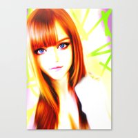 Canvas Print featuring GIRL by Ylenia Pizzetti