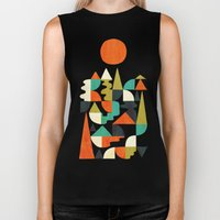 Mountains Hills and Rivers Biker Tank