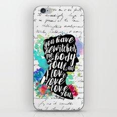 Mr.Darcy - I Love You iPhone & iPod Skin
