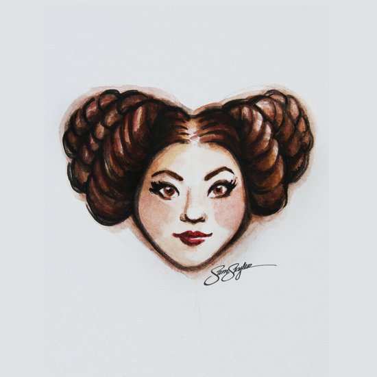 Leia Star Wars Heart Art Art Print
