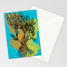peacock tree Stationery Cards