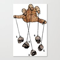 The Five Dancing Skulls Of Doom Canvas Print