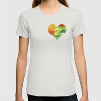 Love In Motion Womens Fitted Tee Silver SMALL