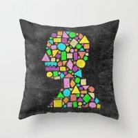 Mosaic Silhouette Throw Pillow