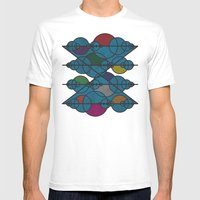 Geometric Exploration 1 Mens Fitted Tee White SMALL