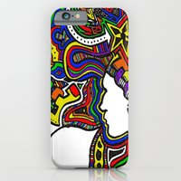 iPhone & iPod Case featuring Rainbow Techno by Madison R. Leavelle