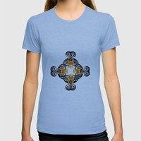 PATTERN 3 Womens Fitted Tee Athletic Blue SMALL