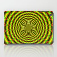 Pulse in Red Yellow and Green iPad Case