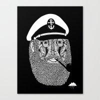 Captain Monkey Pants Black Label Canvas Print