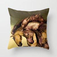 Gunmetal Throw Pillow