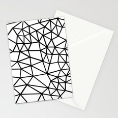Segment Dense Black on White Stationery Cards